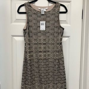 Max studio black + nude lace dress